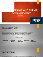 Advertisement and Brand Management