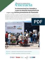 Boletin Cooperacion de Colombia a Los Migrantes Venezolanos