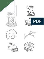 dibujos de la N