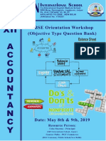 12th AccountancyCbse OMQs