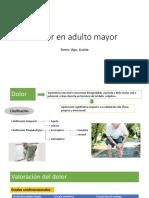 Dolor en Adulto Mayor