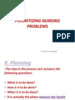 Prioritizing Nursing Problems