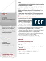 Simple Red Resume Template