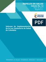 Informe ley estatutaria