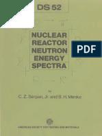 DS52 - (1974) Nuclear Reactor Neutron Energy Spectra