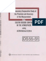 DS55S1 - (1974) Interlaboratory Coopertative Study of the Precision and Accuracy of the Measurement of Sulfur Dioxide Content in the Atmosphere