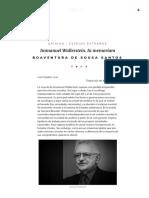 Sousa Santos, Boaventura - Immanuel Wallerstein. in Memoriam – Espejos Extraños