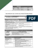 02 Declaracion Del Alcance - Plan de Gestion Del Alcance - Edt