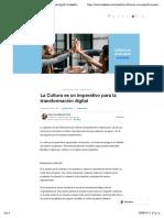 La Cultura es un imperativo para la transformación digital   LinkedIn