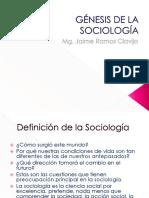 Génesis de La Sociología