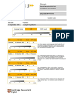 Linguaskill Test Report Form for Individual Candidate