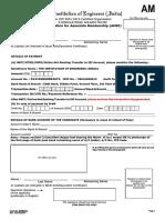 Application Form AssociateMember AM