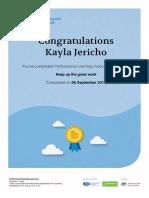 professional learning module - understand certificate