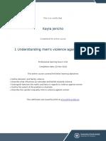 understanding mens violence against women