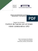 Ferriz - Control de Fuerza Con El Brazo Robot Colaborativo UR3
