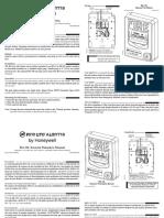 Manual Honeywell para palanca de fuego