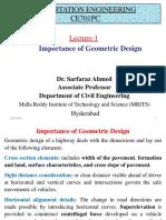 Importance of Geometric Design
