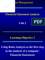 Fm Unit 2 Lecture - Financial Statement Analysis
