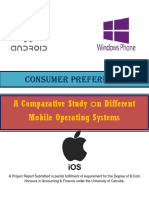 Consumer preference - A Comparative Study on Different Mobile Operating systems