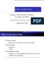 Long-Run Growth Policy