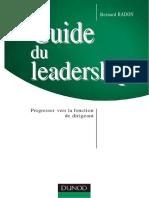 Guide Du Leadership Progresser Vers La Fonction