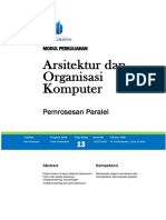 Arkom Modul 13 - Pemrosesan Paralel