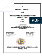 """RECRUITMENT AND SELECTION PROCEDURE"" BHEL.doc"