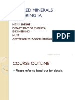 Advanced Minerals Engineering Ia Course Notes