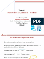 1. Introduction to Databases - Practical