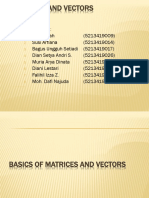 Matrices and Vectors
