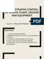 Administrative Control of School Plant, Ground and Equipment