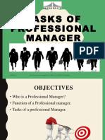 Tasks of Professional Manager Ppt