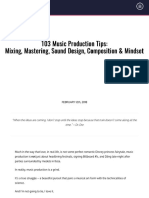 103 Music Production Tips