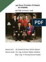 Foto Keluarga Besar Presiden RI Bapak SOEKARNO