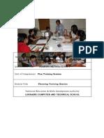 plan training session
