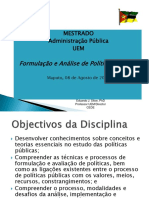 Programa e Abordagem Do Curso de Mestrado Da UEM 2018