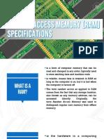 Lesson 2.3 RAM Specs