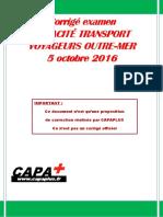Corrige Voyageurs Outre Mer 2016 Capaplus