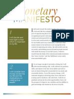 Monetary Manifesto