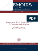 (Memoirs of the American Mathematical Society 0926) Riccardo Benedetti, Francesco Bonsante-Canonical Wick Rotations in 3-Dimensional Gravity-Amer Mathematical Society (2009)
