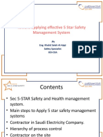 Toward Applying Effective 5 Star Safety Management System