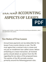 Tax and Accounting Aspects of Leases