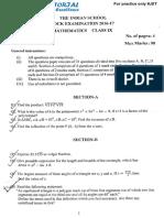 9th Maths 2016 Sa1 Qestion Paper-1