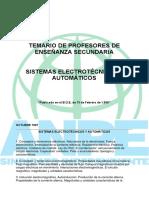 Temario sistemas electrotécnicos y automáticos