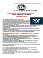 Categories and Rules for 27th SKDUN World Karate Championships