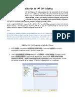Guia - Enabling SAP GUI Scripting - Client Side