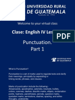 Ingles 4 Clase 1 Punctuation Part 1