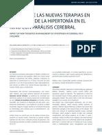 impacto de nuevas terapias en la hipertonia en PC
