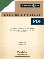 Dossier de Presse Conference de Presse CMCP INTERNATIONAL PAPER_07 Juillet 2017