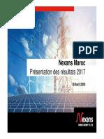 Nexans MAROC_Présentation Des Résultats 2017